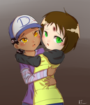Clementine and Leah - Alone (RiiaChii Artrade) by Crazyb2000