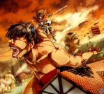 Shingeki no Kyojin : Fight back by Sa-Dui