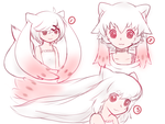 Kyubey Gijinka Hair Designs by ChibiHakuryu