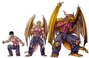 Ryu : Transformation Stages by JosFouts