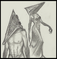 Pyramidhead doodles by Cageyshick05