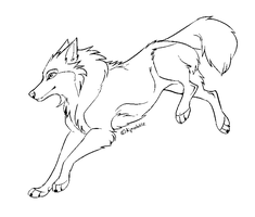 _Free wolf lineart_ by Kipine