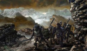 The Patrol Of Mordor Orks by yoggurt
