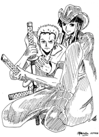 One Piece: Zoro and Nico Robin by HomunculusLust