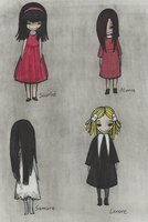 Creepy little girls -Doodle- by Cageyshick05