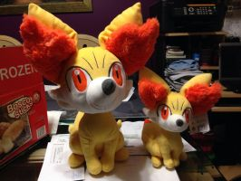 Fennekin Plushies!! by pokelover586