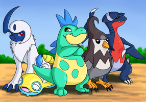 My heartgold poke-team by Sklavenbrause