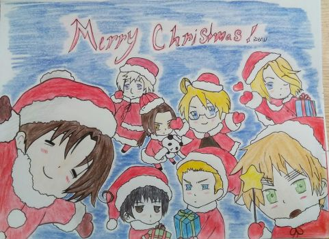 Merry Christmas from Hetalia by Proud2BeANerd