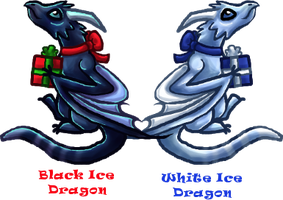 Holiday Ice Dragons by Piniee
