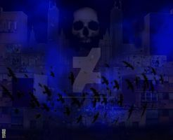 Blue Noir City by bloodsoakedgraphics