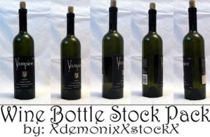 Wine Bottle Stock Pack by XdemonicXstockX
