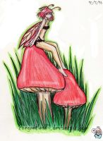Fairy On A Mushroom by 2regretless7