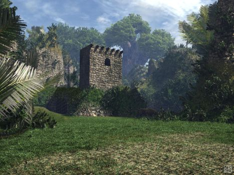 Jungle Ruin by curious3d