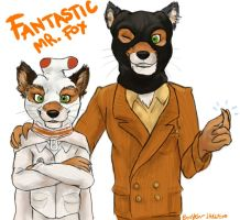Ash and Mr Fox by BooYeh