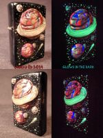 Space Zippo by Undead Ed Glows in the dark by Undead-Art