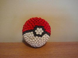 3D Origami Pokeball by pokegami