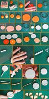 clay orange cake tutorial by cihutka123