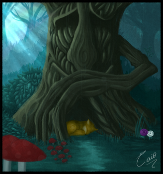 The tree and the fox by Maziero