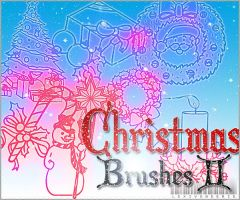 Christmas Brushes O2 by LexiVonEerie