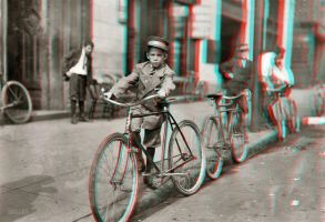 Boy With Bike 3-D conversion by MVRamsey