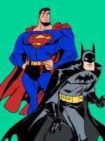 Batman and Superman by h3r3c0m35th3p41n