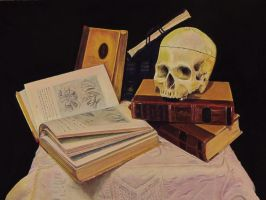 Trying out the Wallis pastel paper: Surgeon's Desk by LuthienneTinuvielle