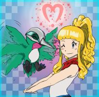 Katrine and Hummimon by 1amm1