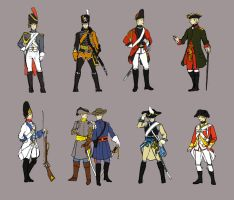 Hetalia: Historical Uniforms by seemo