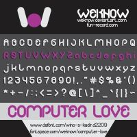 computer love font by weknow by weknow