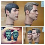 1/6 New Star Trek (2009+) Kirk and Spock paint job by DarrenCarnall