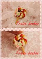 happy lollipop charm by Fraise-Bonbon
