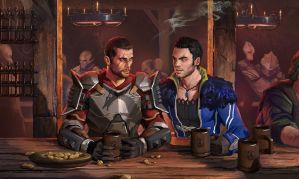 Tavern Hopping- Dragon Effect by AndrewRyanArt