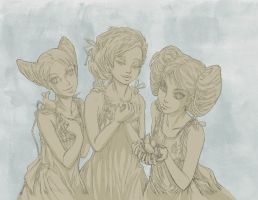 The Girlies - sketch by Kimbot