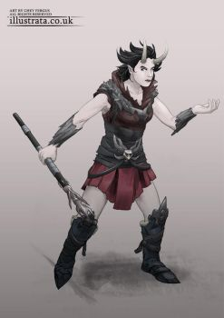 Demon Warrior (Character Design) by Chey-the-Illustrata