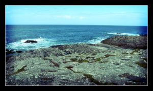 Tiree Rocks and Sea by rosebud10