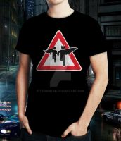 Superhero Crossing - Shirt - Male - Teebusters.com by teebuster
