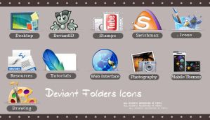 Deviant Folders Icons by MEMO-DESIGNER