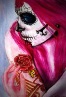 Pink sugar skull by smile7z