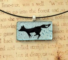 Silver Fox Run Fused Glass Pendant by FusedElegance