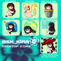 Ask Kira Icons by Ra1-x3
