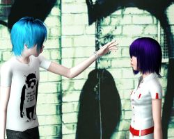 Gorillaz - 2D , noodle (The sims3) by tyrblue