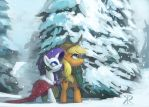 First snow by Raikoh-illust