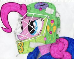 Pinkie the Goalie by xXFATPIGXx