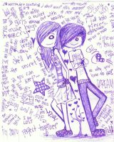 Emo couple by amarenna