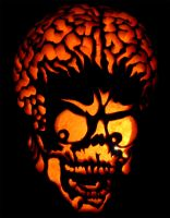 Mars Attacks Pumpkin by piobman