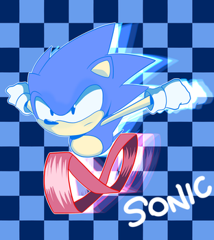 Sonic The Hedgehog by MikeStarson