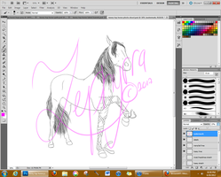 Kasey Top Horse Phase 3 Lines - WIP by Zephyrra