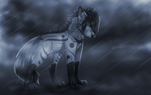 The rain falls down my face by Z-A-D-Y
