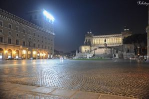 Illuminated Piazza by Rikitza