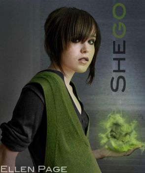 Ellen Page as Shego by everyone92